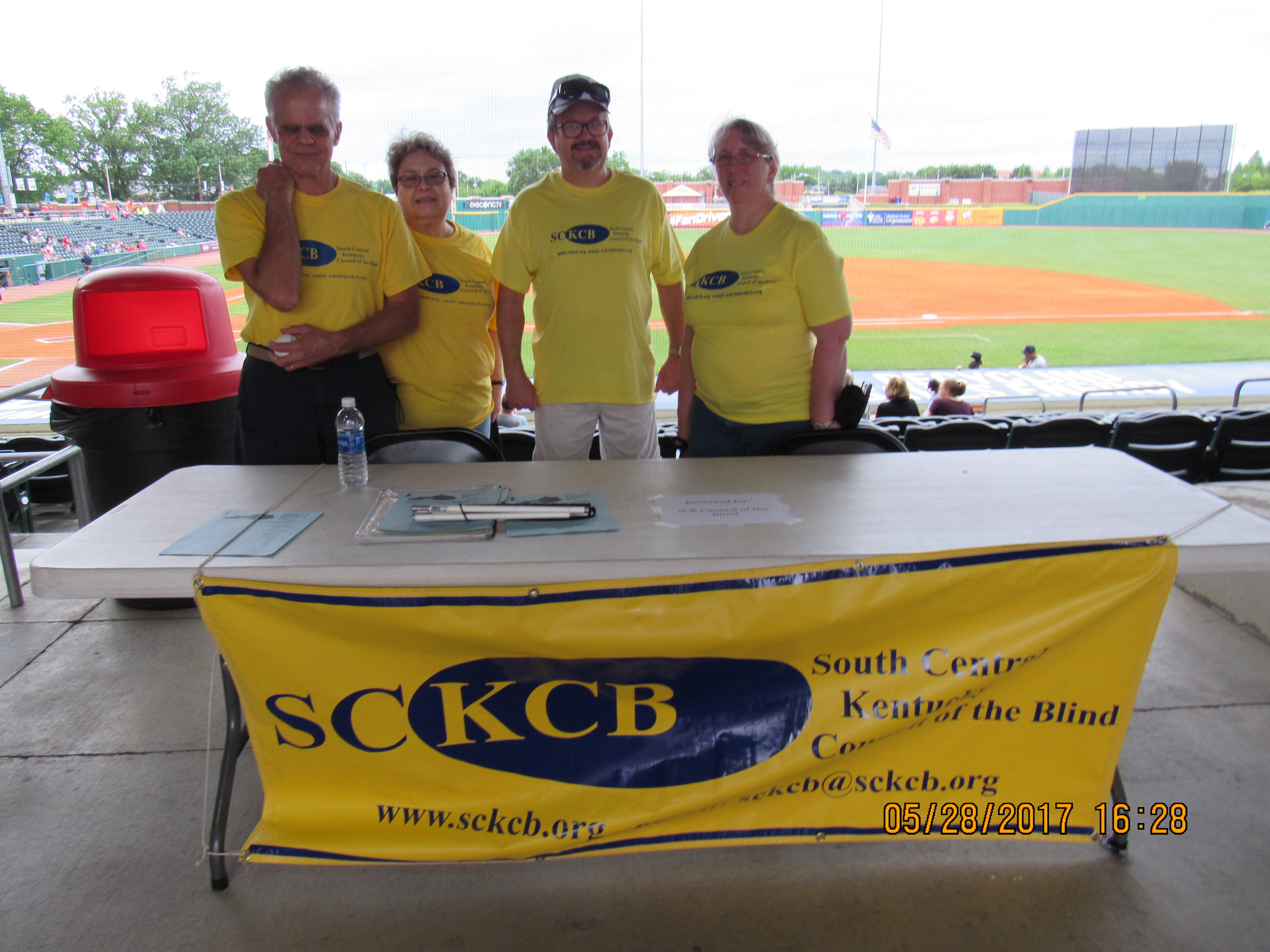 Picture of SCKCB table at the ballgame