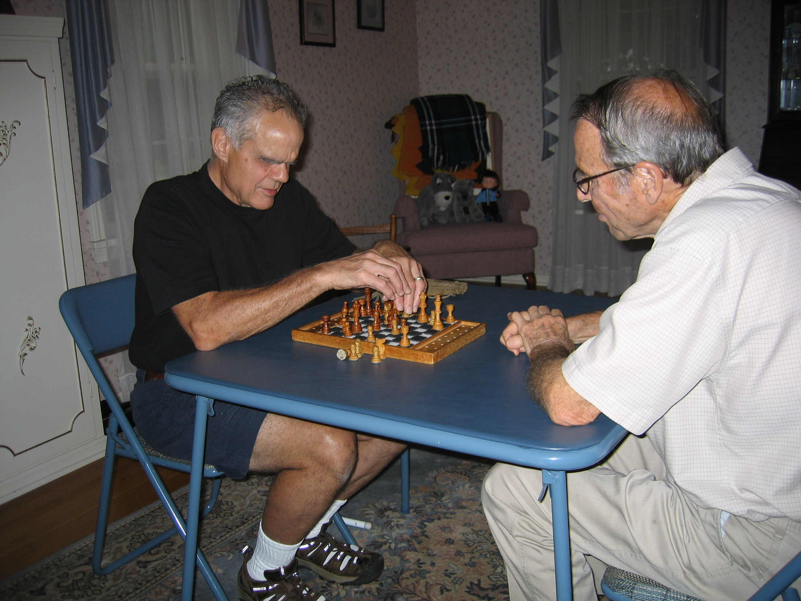 Vice President Jim Thoune Playing Chess