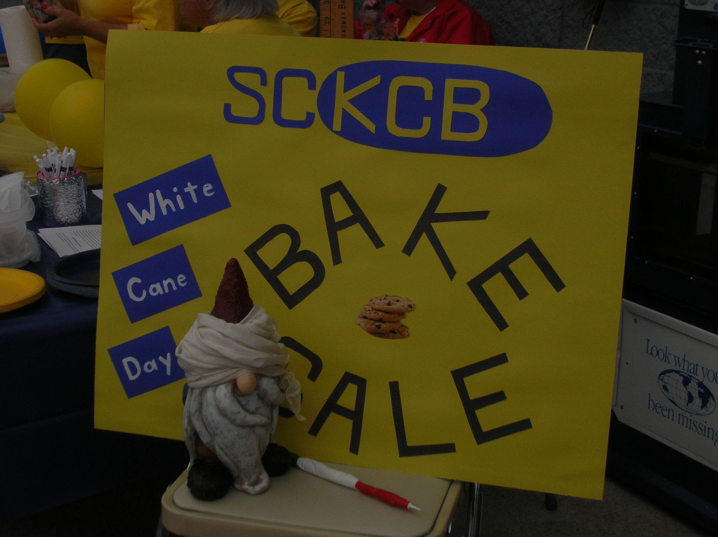 Photo of the SCKCB baked goods fund raiser