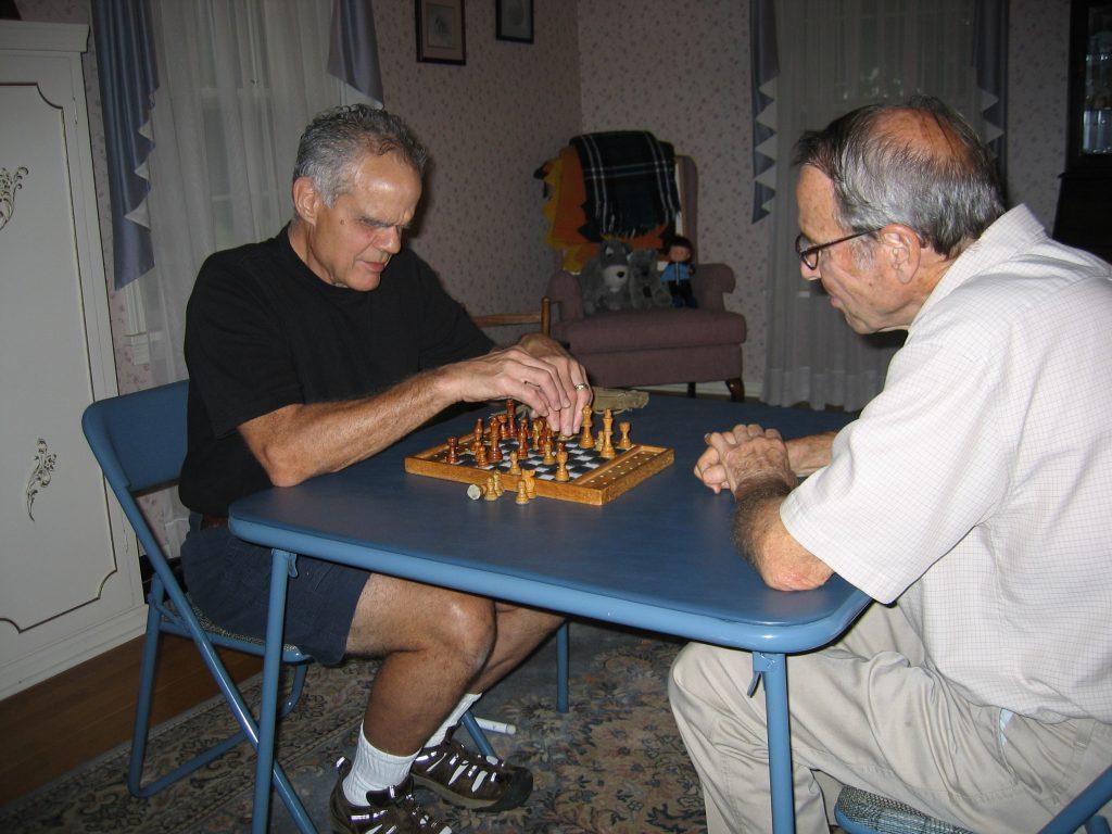 Jim Thoune Playing Chess